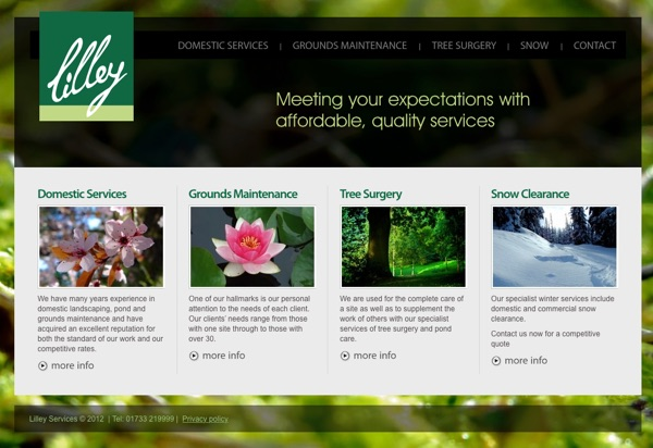 Lilley Services Website